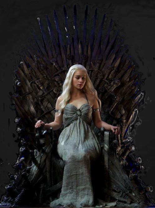 Daenerys on the throne
